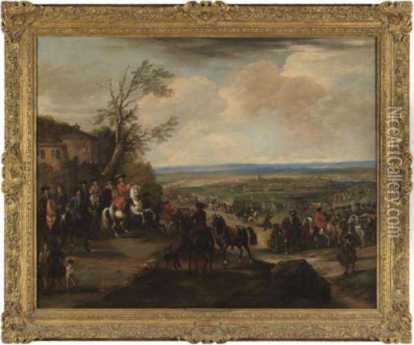 The Duke Of Marlborough At The Battle Of Oudenaarde (1708) Oil Painting - John Wootton