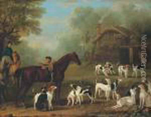 Unkenneling: A Study For The Painting In The Wootton Hall At Althorp Oil Painting - John Wootton