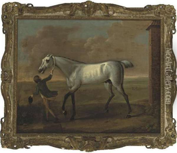 Victorious, The Property Of The Rt. Hon. Earl Of Portmore Oil Painting - John Wootton