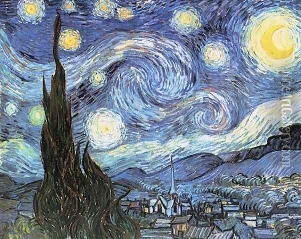 Starry Night Oil Painting - Vincent Van Gogh