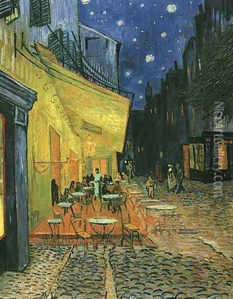 The Cafe Terrace On The Place Du Forum Arles At Night Oil Painting - Vincent Van Gogh