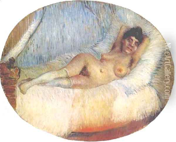 Nude Woman On A Bed Oil Painting - Vincent Van Gogh