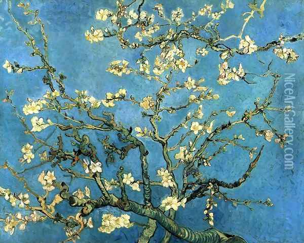Branches with Almond Blossom Oil Painting - Vincent Van Gogh