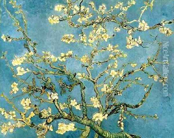 Blossoming Almond Tree Oil Painting - Vincent Van Gogh