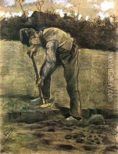 A Digger Oil Painting - Vincent Van Gogh