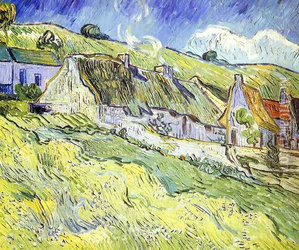 A Group of Cottages Oil Painting - Vincent Van Gogh