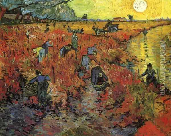 The Red Vineyard Oil Painting - Vincent Van Gogh