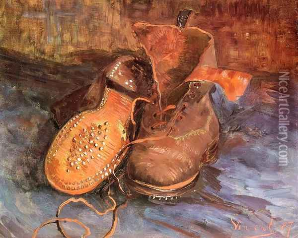 A Pair of Shoes I Oil Painting - Vincent Van Gogh