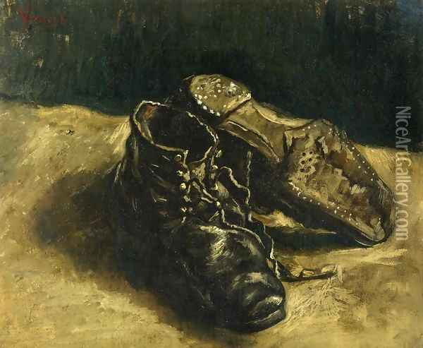 A Pair of Shoes II Oil Painting - Vincent Van Gogh