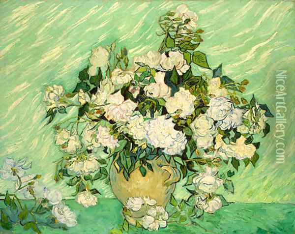 Roses Oil Painting - Vincent Van Gogh