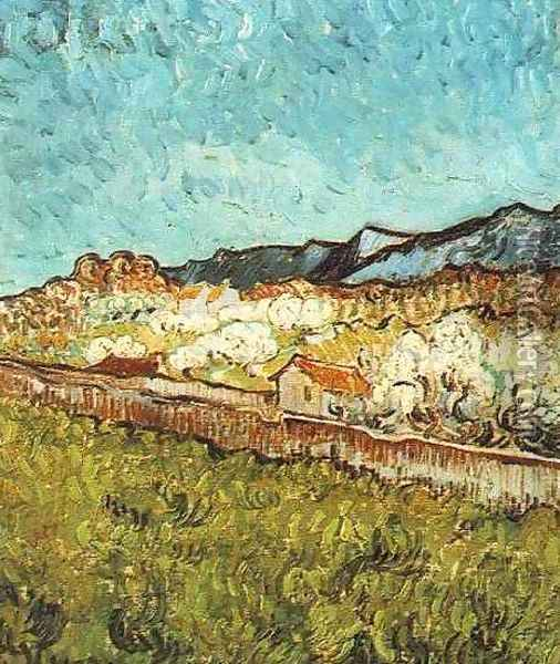 At The Foot Of The Mountains Oil Painting - Vincent Van Gogh