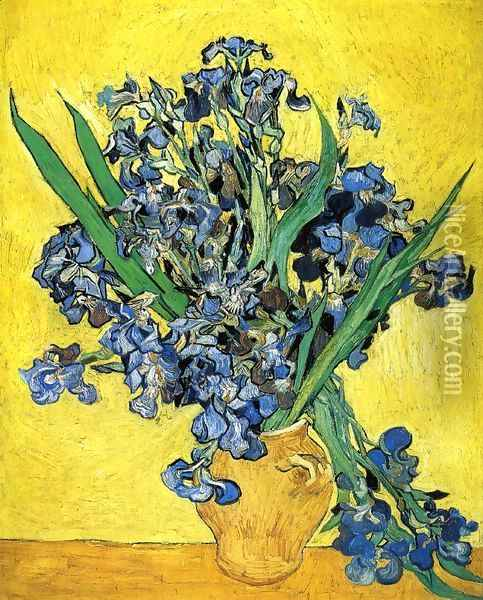 Still Life with Irises Oil Painting - Vincent Van Gogh