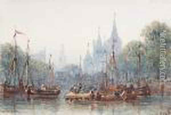 Amsterdam Oil Painting - William Wyld