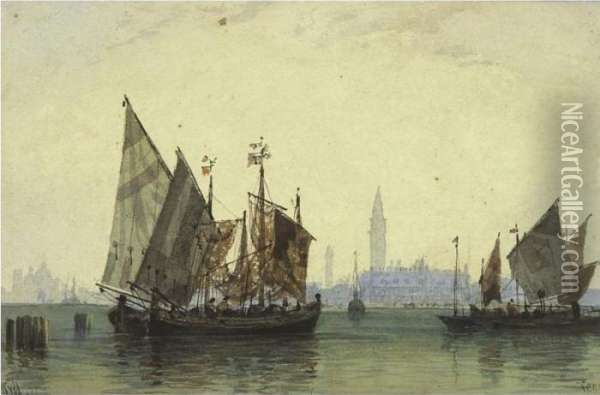 View Of Venice Oil Painting - William Wyld