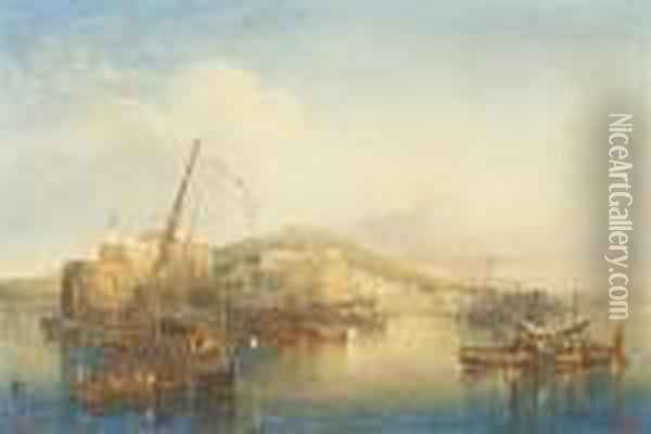 View Of Naples Oil Painting - William Wyld