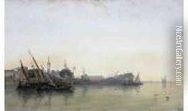Vue D'egypte Aquarelle Oil Painting - William Wyld