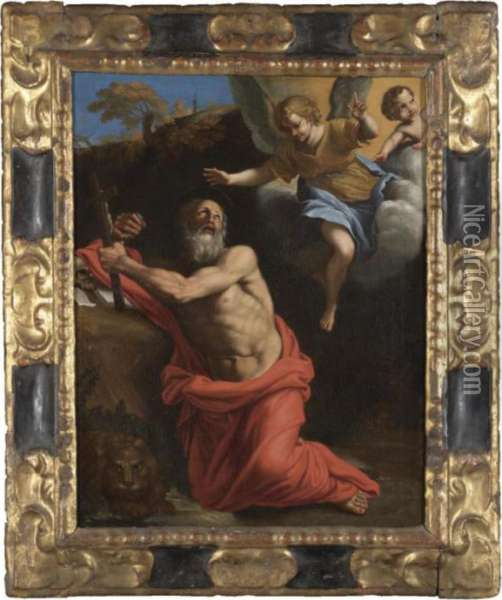 Saint Jerome Oil Painting - Domenico Zampieri (Domenichino)
