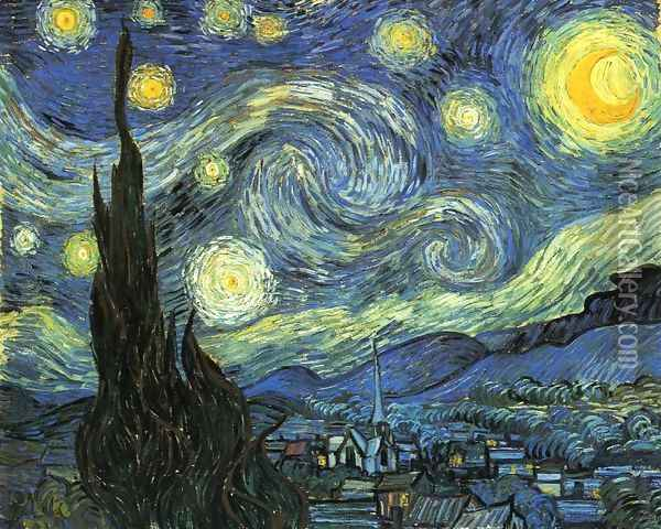 The Starry Night Oil Painting - Vincent Van Gogh