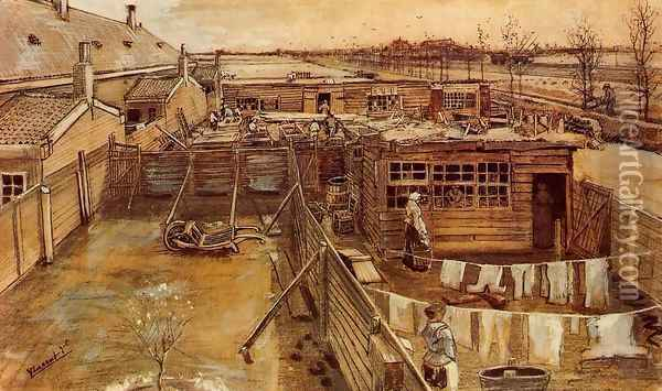 Carpenter's Workshop, Seen from the Artist's Studio Oil Painting - Vincent Van Gogh