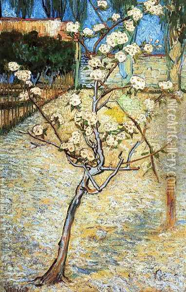 Pear Tree in Blossom Oil Painting - Vincent Van Gogh