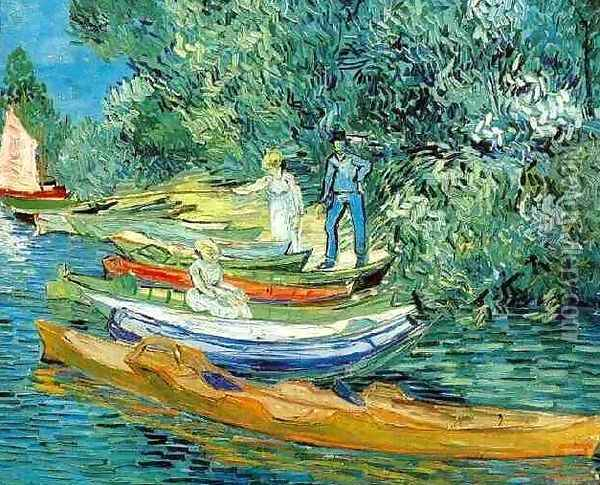 Bank Of The Oise At Auvers Oil Painting - Vincent Van Gogh