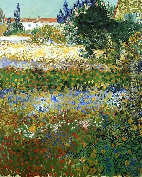 Garden with Flowers I Oil Painting - Vincent Van Gogh