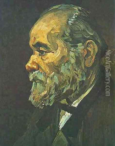 Portrait Of An Old Man With Beard Oil Painting - Vincent Van Gogh