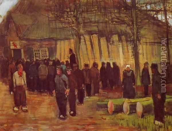 A Wood Auction Oil Painting - Vincent Van Gogh