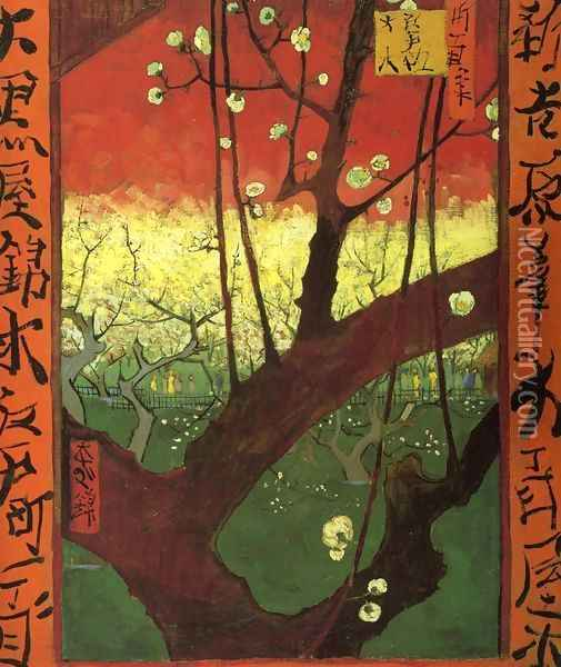 Japonaiserie (after Hiroshige) Oil Painting - Vincent Van Gogh