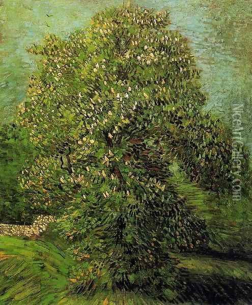 Chestnut Tree In Blossom II Oil Painting - Vincent Van Gogh