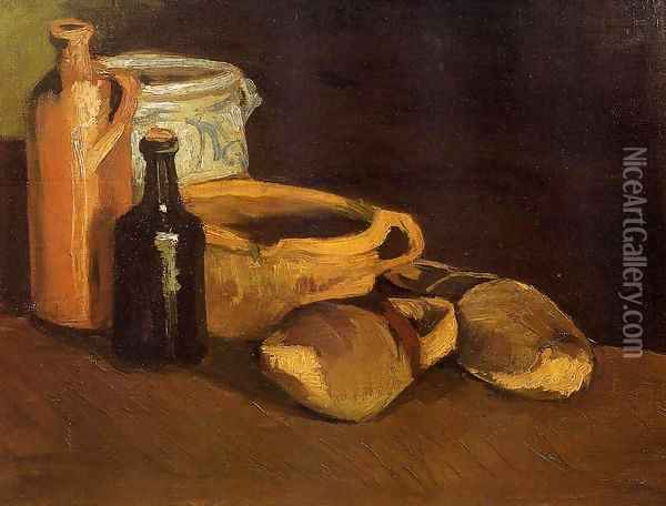 Still Life With Clogs And Pots Oil Painting - Vincent Van Gogh