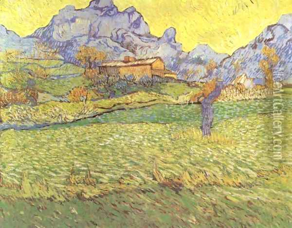 A Meadow in the Mountains Oil Painting - Vincent Van Gogh