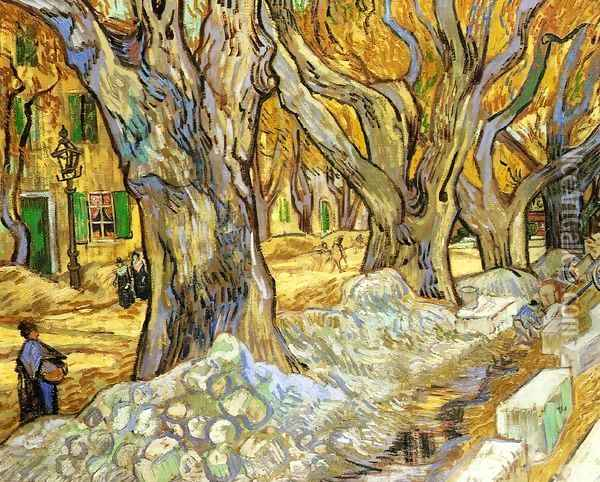 Large Plane Trees Oil Painting - Vincent Van Gogh
