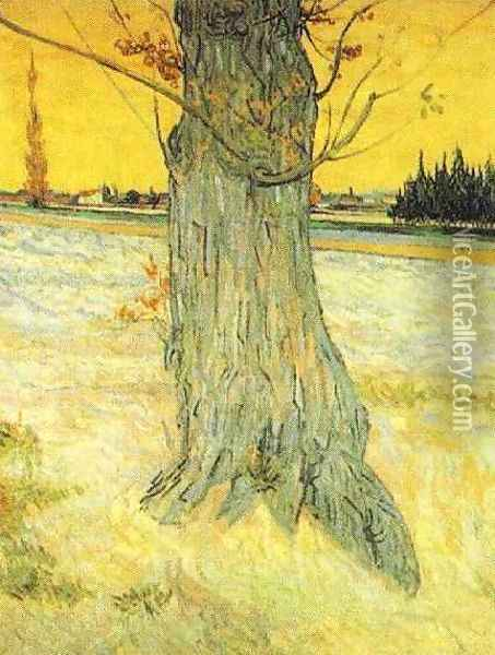 Trunk Of An Old Yew Tree Oil Painting - Vincent Van Gogh