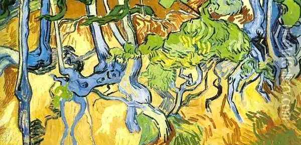 Tree Roots And Trunks Oil Painting - Vincent Van Gogh