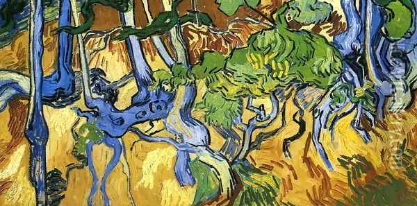 Roots and Tree Trunks Oil Painting - Vincent Van Gogh