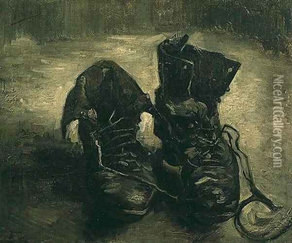 Pair Of Shoes A III Oil Painting - Vincent Van Gogh