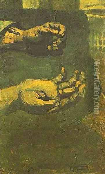 Two Hands Oil Painting - Vincent Van Gogh