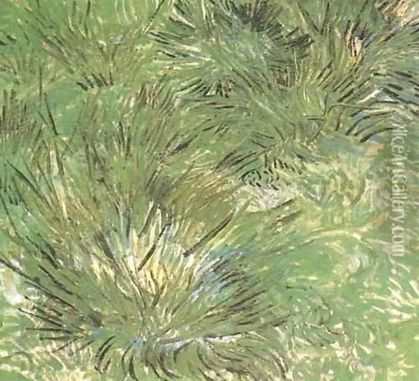 Clumps Of Grass Oil Painting - Vincent Van Gogh