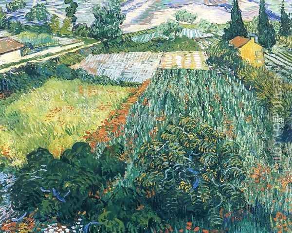 Field With Poppies II Oil Painting - Vincent Van Gogh