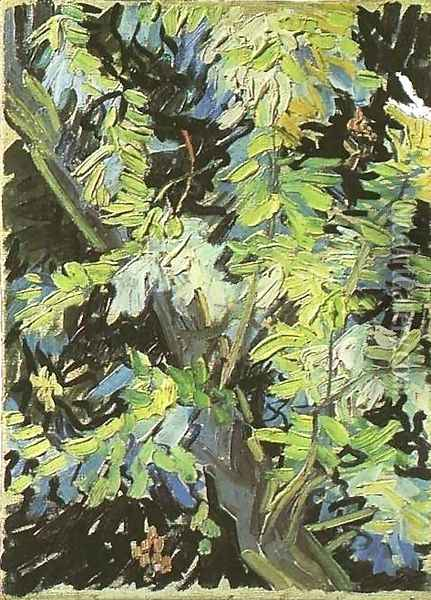 Blossoming Acacia Branches Oil Painting - Vincent Van Gogh
