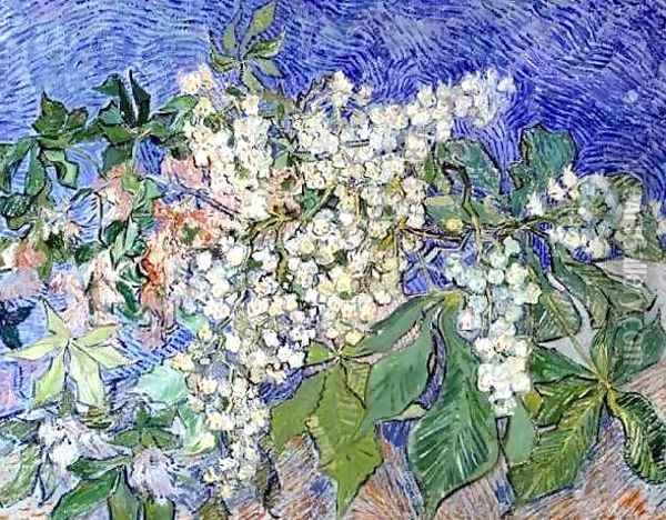 Blossoming Chestnut Branches Oil Painting - Vincent Van Gogh