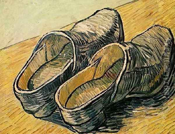 Pair Of Leather Clogs A Oil Painting - Vincent Van Gogh