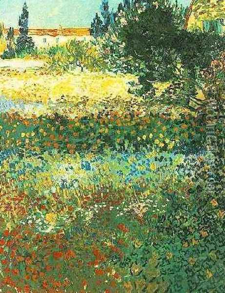 Flowering Garden Oil Painting - Vincent Van Gogh