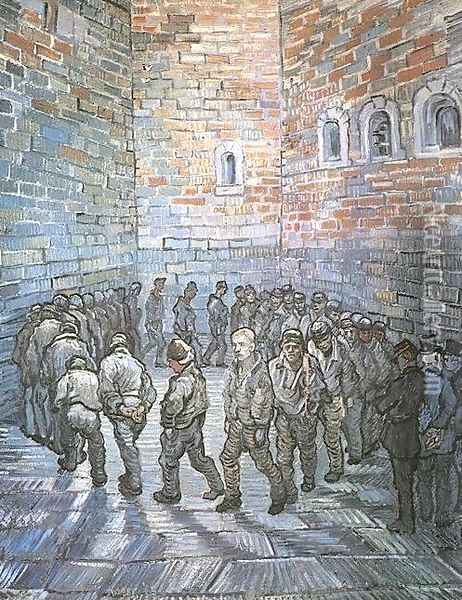 Prisoners Exercising (after Dore) Oil Painting - Vincent Van Gogh