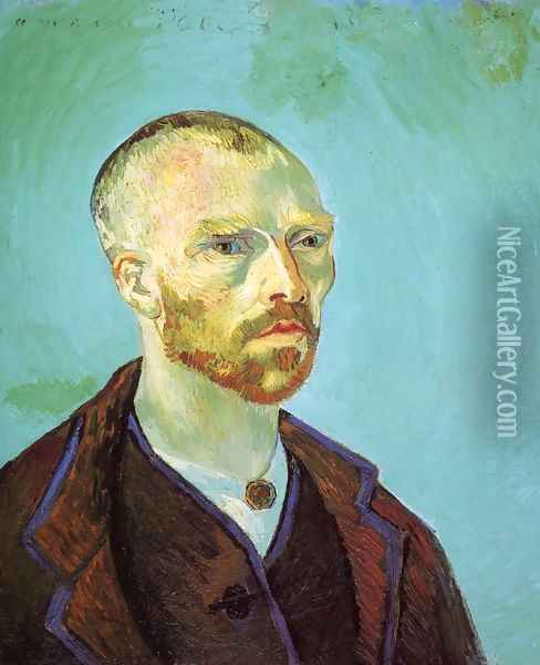 Self Portrait (Dedicated To Paul Gauguin) Oil Painting - Vincent Van Gogh