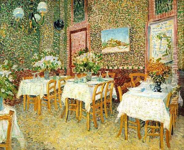 Interior Of A Restaurant Oil Painting - Vincent Van Gogh