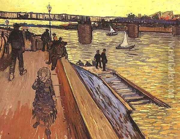 The Bridge At Trinquetaille Oil Painting - Vincent Van Gogh