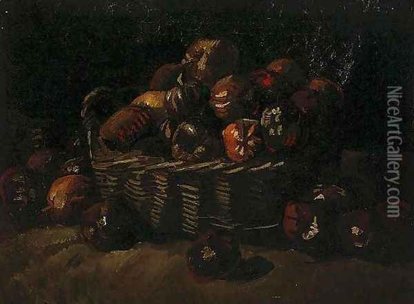 Basket Of Apples II Oil Painting - Vincent Van Gogh