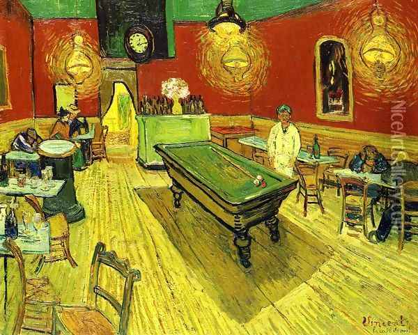 The Night Cafe In The Place Lamartine In Arles Oil Painting - Vincent Van Gogh